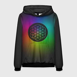 Толстовка-худи мужская Coldplay Colour цвета 3D-черный — фото 1