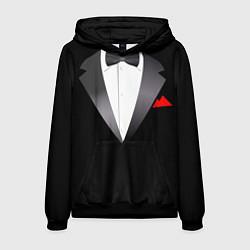 Толстовка-худи мужская Смокинг мистера цвета 3D-черный — фото 1