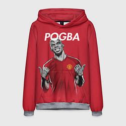 Толстовка-худи мужская FC MU: Pogba цвета 3D-меланж — фото 1