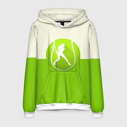 Толстовка-худи мужская Символ теннисиста цвета 3D-белый — фото 1