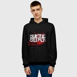 Толстовка-худи мужская Suicide Silence Blood цвета 3D-черный — фото 2