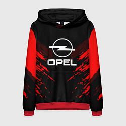 Толстовка-худи мужская Opel: Red Anger цвета 3D-красный — фото 1