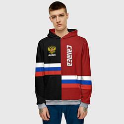 Толстовка-худи мужская Crimea, Russia цвета 3D-меланж — фото 2