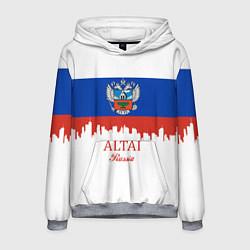 Толстовка-худи мужская Altai: Russia цвета 3D-меланж — фото 1