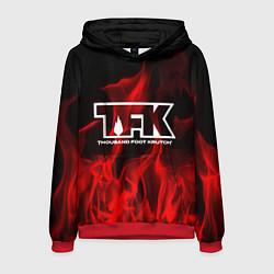 Толстовка-худи мужская Thousand Foot Krutch: Red Flame цвета 3D-красный — фото 1
