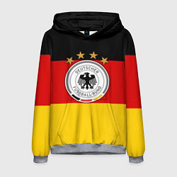 Толстовка-худи мужская Немецкий футбол цвета 3D-меланж — фото 1