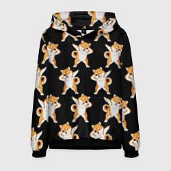 Толстовка-худи мужская Foxes Dab цвета 3D-черный — фото 1