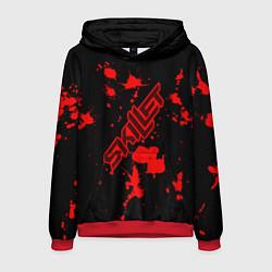 Толстовка-худи мужская Skillet: Blood Style цвета 3D-красный — фото 1