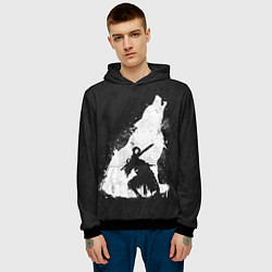 Толстовка-худи мужская Dark Souls: Howling Wolf цвета 3D-черный — фото 2