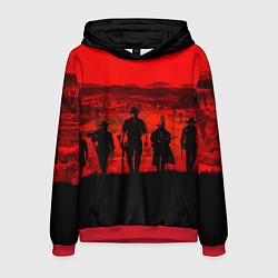 Толстовка-худи мужская RDR 2: Sunset цвета 3D-красный — фото 1