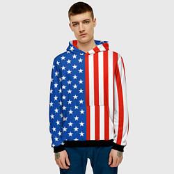 Толстовка-худи мужская American Patriot цвета 3D-черный — фото 2
