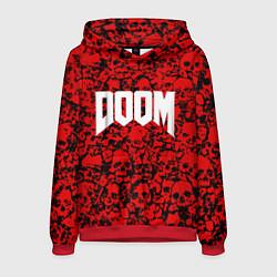 Толстовка-худи мужская DOOM: Blooded Skuls цвета 3D-красный — фото 1
