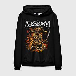 Толстовка-худи мужская Alestorm: Flame Warrior цвета 3D-черный — фото 1