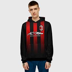 Толстовка-худи мужская AC Milan цвета 3D-черный — фото 2