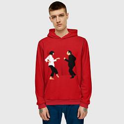 Толстовка-худи мужская Криминальное чтиво цвета 3D-красный — фото 2