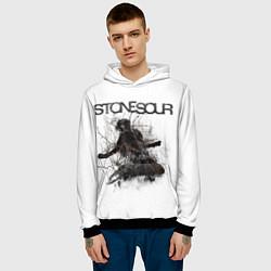 Толстовка-худи мужская Stone Sour: Rage цвета 3D-черный — фото 2