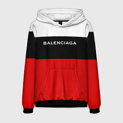 Толстовка-худи мужская Balenciaga: White & Red цвета 3D-черный — фото 1