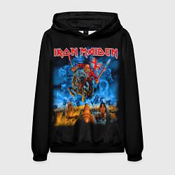 Толстовка-худи мужская Iron Maiden: Great Britain Warriors цвета 3D-черный — фото 1