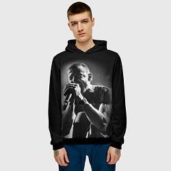 Толстовка-худи мужская Chester Bennington Linkin Park цвета 3D-черный — фото 2