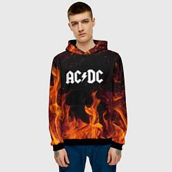 Толстовка-худи мужская AC DC цвета 3D-черный — фото 2