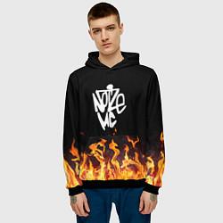 Толстовка-худи мужская Noize MC цвета 3D-черный — фото 2