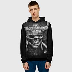Толстовка-худи мужская Iron Maiden цвета 3D-черный — фото 2