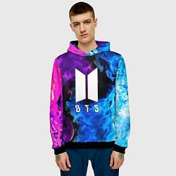 Толстовка-худи мужская BTS цвета 3D-черный — фото 2