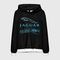 Толстовка-худи мужская Jaguar цвета 3D-белый — фото 1