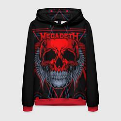 Толстовка-худи мужская Megadeth цвета 3D-красный — фото 1