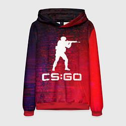 Толстовка-худи мужская CS GO КС ГО цвета 3D-красный — фото 1