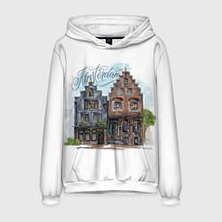 Толстовка-худи мужская Амстердам цвета 3D-белый — фото 1