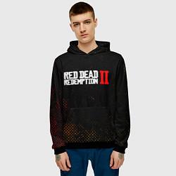 Толстовка-худи мужская RED DEAD REDEMPTION 2 цвета 3D-черный — фото 2