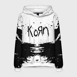 Толстовка-худи мужская Korn цвета 3D-белый — фото 1