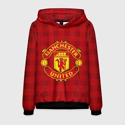 Толстовка-худи мужская Manchester United цвета 3D-черный — фото 1