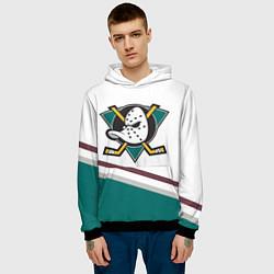 Толстовка-худи мужская Anaheim Ducks Selanne цвета 3D-черный — фото 2