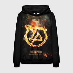 Толстовка-худи мужская Linkin Park: Burning the skies цвета 3D-черный — фото 1