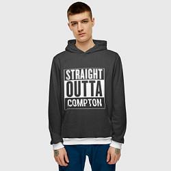 Толстовка-худи мужская Straight Outta Compton цвета 3D-белый — фото 2