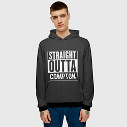 Толстовка-худи мужская Straight Outta Compton цвета 3D-черный — фото 2