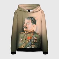 Толстовка-худи мужская Иосиф Сталин цвета 3D-черный — фото 1