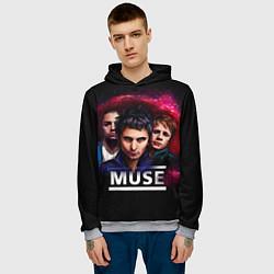 Толстовка-худи мужская Muse Band цвета 3D-меланж — фото 2