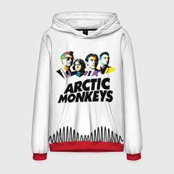 Толстовка-худи мужская Arctic Monkeys: Music Wave цвета 3D-красный — фото 1