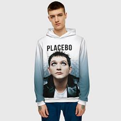 Толстовка-худи мужская Placebo: Brian Molko цвета 3D-белый — фото 2