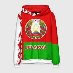 Толстовка-худи мужская Belarus Patriot цвета 3D-белый — фото 1