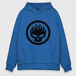 Толстовка оверсайз мужская The Offspring: Sybmol цвета синий — фото 1