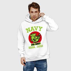 Толстовка оверсайз мужская Navy: Po-1967 цвета белый — фото 2