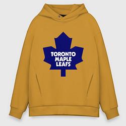 Толстовка оверсайз мужская Toronto Maple Leafs цвета горчичный — фото 1