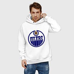 Толстовка оверсайз мужская Edmonton Oilers цвета белый — фото 2