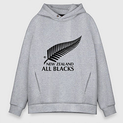 Толстовка оверсайз мужская New Zeland: All blacks цвета меланж — фото 1