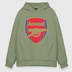 Толстовка оверсайз мужская Arsenal FC цвета авокадо — фото 1
