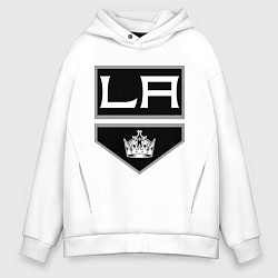Толстовка оверсайз мужская Los Angeles Kings цвета белый — фото 1
